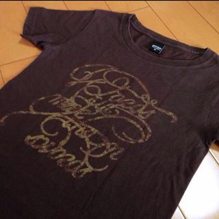 グラニフ(Design Tshirts Store graniph)のグラニフダークブラウンコットンT(Tシャツ/カットソー(半袖/袖なし))
