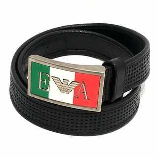 Emporio Armani - 美品 エンポリオアルマーニ イタリア国旗 デザイン バックル ベルト