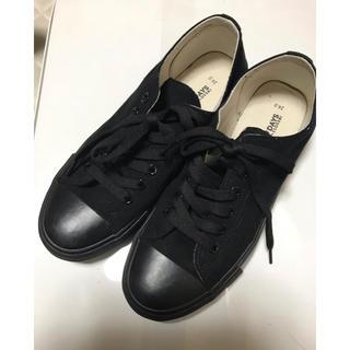 しまむら - キャンパススニーカー 黒24㎝
