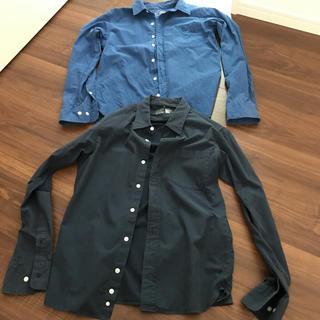 ムジルシリョウヒン(MUJI (無印良品))の無印良品 メンズ長袖シャツ 2点セット(シャツ)