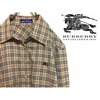 BURBERRY - 【定番・大人気】Burberry バーバリー ノバチェック  ベージュシャツ