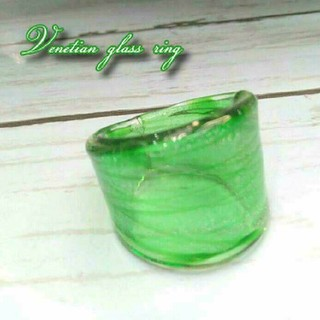 VR7 縞模様 ベネチアン ガラス リング ベネチアリング 指輪(リング(指輪))