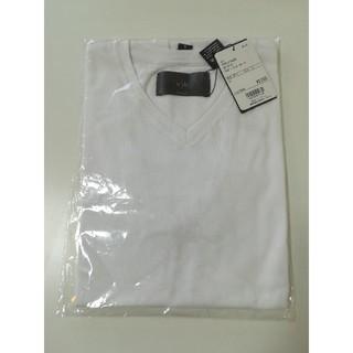 nano・universe - nano・universe Tシャツ 白 半袖 Vネック wjk