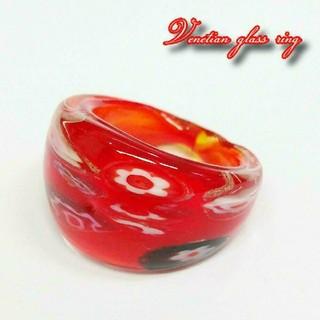 VR10 ミルフィオリ ベネチアン ガラス リング ベネチアリング 指輪(リング(指輪))