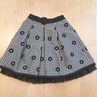 エムズグレイシー(M'S GRACY)のエムズグレイシー ギンガムチェックスカート(ひざ丈スカート)
