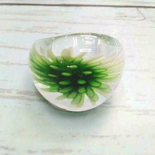 VR17 フラワー ベネチアン ガラス リング ベネチアリング 指輪 (リング(指輪))
