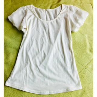 ミスティウーマン(mysty woman)の肩シフォンTシャツ(Tシャツ(半袖/袖なし))