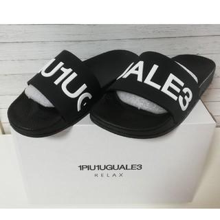 ウノピゥウノウグァーレトレ(1piu1uguale3)の新品 1PIU1UGUALE3 RELAX サンダル ウノピュ ブラック L(サンダル)