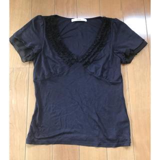 エフデ(ef-de)のフリルTシャツefdeエフデ美品(Tシャツ(半袖/袖なし))