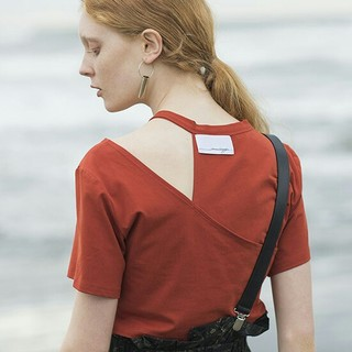 Ameri vintage丸い襟のtシャツ