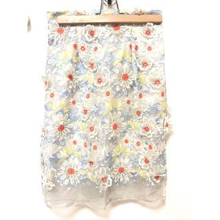 リリーブラウン(Lily Brown)のオーガンジーフラワータイトスカート(ロングスカート)