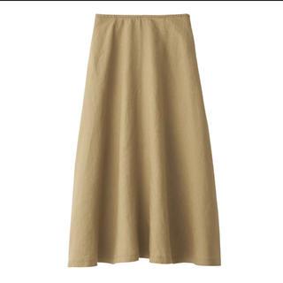 ムジルシリョウヒン(MUJI (無印良品))の新品 無印良品  フレンチリネンイージーマキシフレアースカート M・キャメル (ロングスカート)