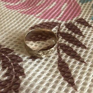 シルバー波&プルメリア指輪(リング(指輪))