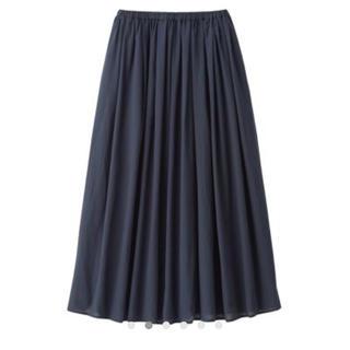 ムジルシリョウヒン(MUJI (無印良品))のインド綿 強撚 イージーマキシスカート(ロングスカート)