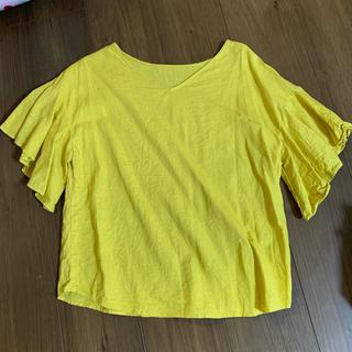 ジーユー(GU)のGU コットンリネンブラウス(シャツ/ブラウス(半袖/袖なし))