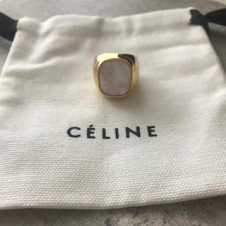エムエムシックス(MM6)のセリーヌ シグネットリング24k 巾着付き♡(リング(指輪))
