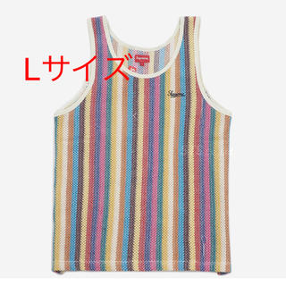 Supreme - Supreme knit Stripe Tank Top L マルチカラー