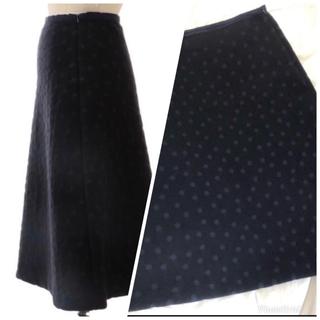 ドゥロワー(Drawer)のDrawer ランダムドットスカート 2018 完売 ドゥロワー  ブラミンク(ひざ丈スカート)