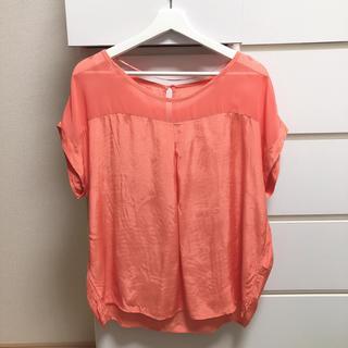 ジーユー(GU)のGU ピンク オレンジ(シャツ/ブラウス(半袖/袖なし))