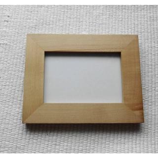 ムジルシリョウヒン(MUJI (無印良品))の木製フォトスタンド(L版)(フォトフレーム)