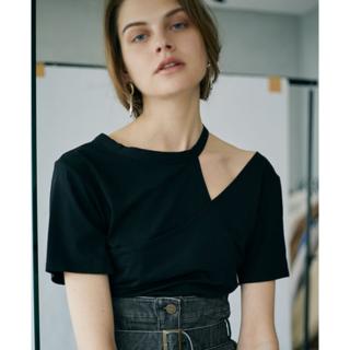 アメリヴィンテージ(Ameri VINTAGE)のAmeri vintage丸い襟のtシャツ  ブラック(Tシャツ(半袖/袖なし))
