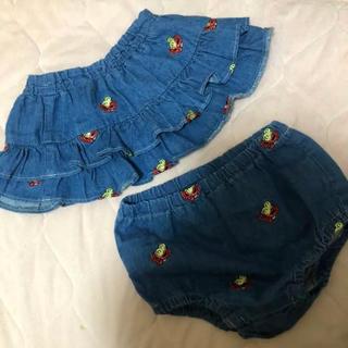 ヒステリックミニ(HYSTERIC MINI)のヒスミニ 刺繍スカート  (スカート)