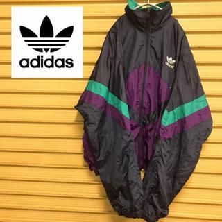 アディダス(adidas)の【adidas】 アディダス ナイロンジャケット レトロカラー ゆるだぼ 90s(ナイロンジャケット)