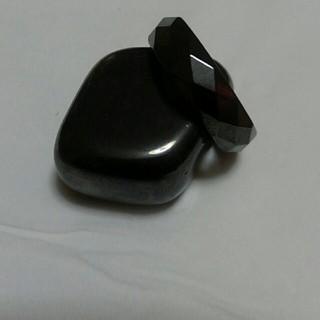 天然石、磁気入りヘマタイトリング❤19号❤健康リング❤難あり商品!新品、未使用❤(リング(指輪))