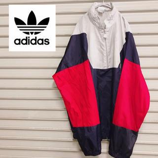 アディダス(adidas)の【adidas】 アディダス ナイロンジャケット ハーフジップ 90s (ナイロンジャケット)