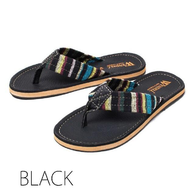 歩きやすい トングサンダル PUレザー ブラック レディースの靴/シューズ(サンダル)の商品写真