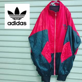 アディダス(adidas)の【adidas】 アディダス ナイロンジャケット レッド XL 90s(ナイロンジャケット)