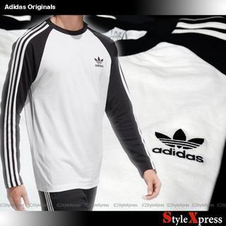 アディダス(adidas)の新品 アディダス オリジナルス 白 黒 XXL 3本ライン ロンT Adidas(Tシャツ/カットソー(七分/長袖))