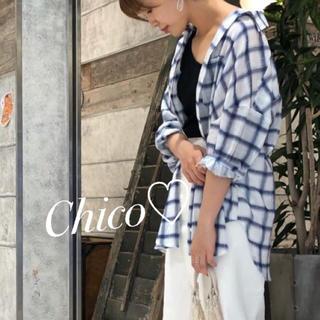 who's who Chico - 新作♡ チェック5分袖BIGシャツ ヘザー ナイスクラップ スナイデル kbf