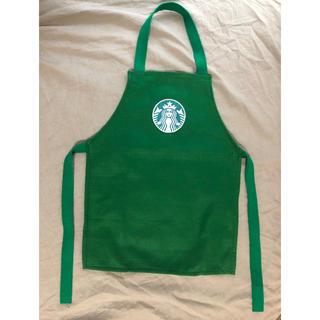 スターバックスコーヒー(Starbucks Coffee)のハンドメイド  スターバックス風キッズエプロン(ワンピース)