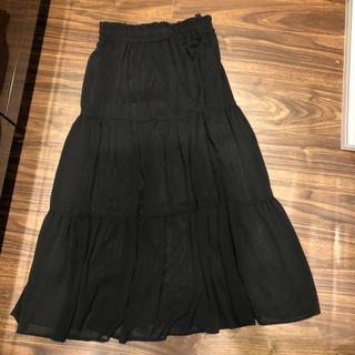 しまむら - しまむら ティアードロングスカート ブラック L