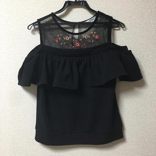 しまむら - オフショルダーTシャツ オフショル トップス L