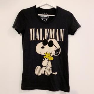 HALFMAN - HALFMAN スヌーピー Tシャツ
