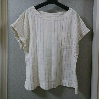 ジーユー(GU)の🌼ストライプ柄ブラウスL(シャツ/ブラウス(半袖/袖なし))