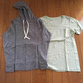 MUJI (無印良品) - パーカー&Tシャツセット
