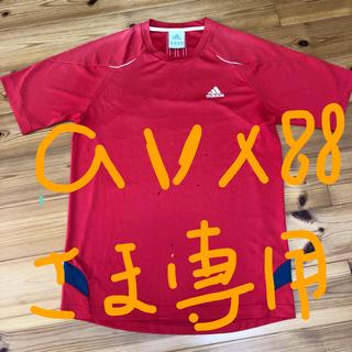 アディダス(adidas)のアディダス★メンズTシャツ★Mサイズ★赤★(Tシャツ/カットソー(半袖/袖なし))