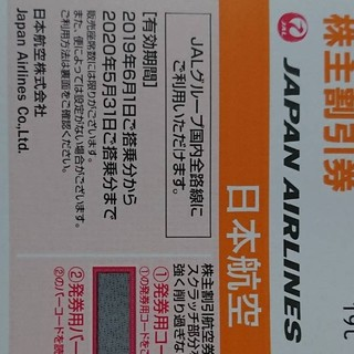 ジャル(ニホンコウクウ)(JAL(日本航空))のJAL 株主優待券(その他)