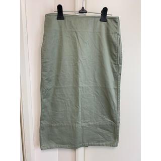 マディソンブルー(MADISONBLUE)のmadison blue タイトスカート  カーキ サイズ 01  A011(ひざ丈スカート)