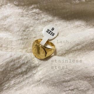 アメリヴィンテージ(Ameri VINTAGE)の《LAST》j168.stainless flat round ring(リング(指輪))