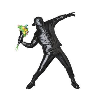 MEDICOM TOY - メディコムトイ製 バンクシー 黒 FLOWER BOMBER BLACK Ver