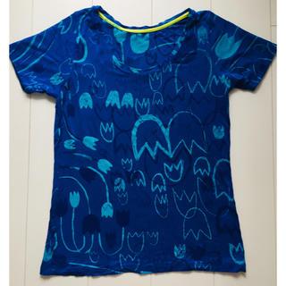 アッシュペーフランス(H.P.FRANCE)の美品!Juana de Arco チューリップ柄Tシャツ(Tシャツ(半袖/袖なし))