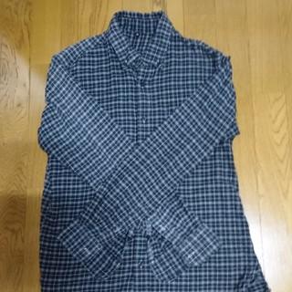 ムジルシリョウヒン(MUJI (無印良品))の無印良品 メンズチェックワイシャツ サイズM 綿100%(シャツ)