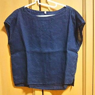 ムジルシリョウヒン(MUJI (無印良品))の無印良品   リネンカットソー(カットソー(半袖/袖なし))