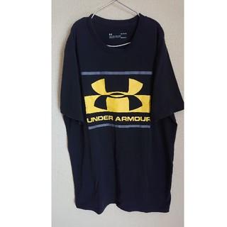 アンダーアーマー(UNDER ARMOUR)のUNDER ARMOUR アンダーアーマーTシャツ サイズL  ネイビー  (Tシャツ/カットソー(半袖/袖なし))