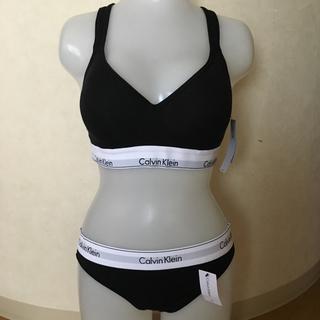 カルバンクライン(Calvin Klein)のカルバンクライン ブラ&ショーツ ブラック Lサイズ(ブラ&ショーツセット)