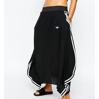 adidas - adidas originals シースルーロングスカート ブラック×ホワイト
